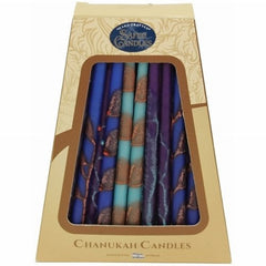 Safed Handcrafted Hanukkah Candles - Aqua Premium