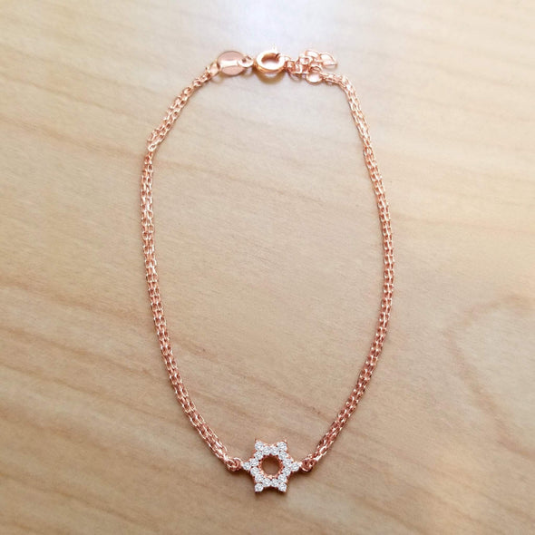 Star of David Sparkle Bracelet - Gold, Silver or Rose Gold