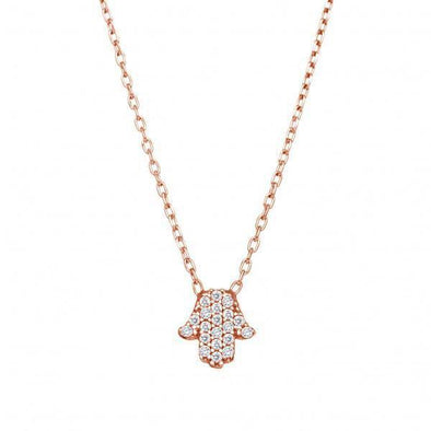 Tiny Hamsa Sparkle Necklace - Gold, Silver or Rose Gold - ModernTribe
