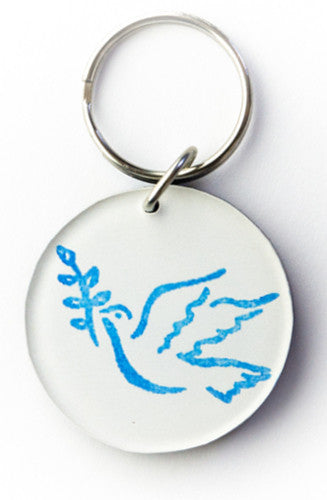 Susan Moffitt Decoration Dove Keychain