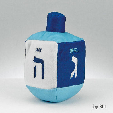 """Chewdaica"" Plush Dreidel Dog Toy, Squeaks"