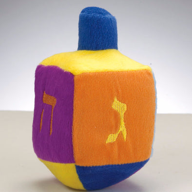 Plush Rainbow Musical Dreidel