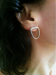 Long Lobe Earrings in Sterling Silver by Marla Studio by Marla Studio - ModernTribe - 1