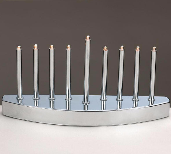 Silver Electric Menorah
