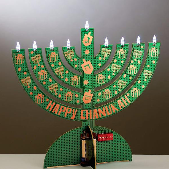 Electric LED Circuitboard Menorah