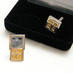 Window Cufflinks by Cynthia Gale GeoArt - ModernTribe - 1