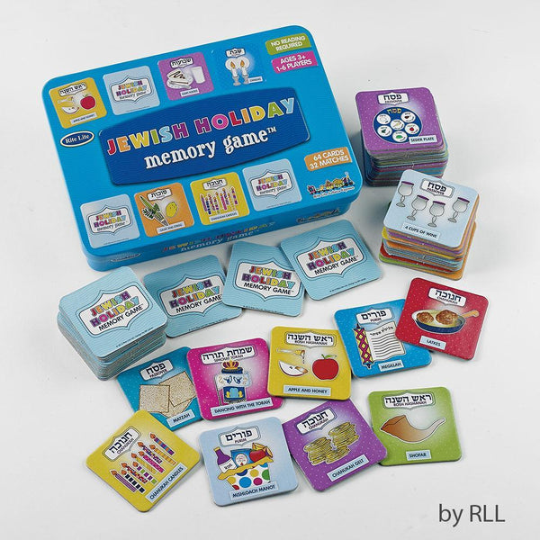 Rite Lite Toy Default Jewish Holidays Memory Game in Collectible Tin