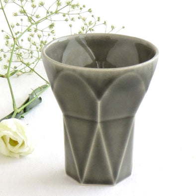 Hexagon Grey Shabbat Kiddush Cup
