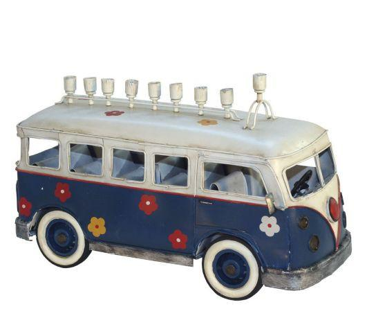 Copa Judaica Menorah Default Wheeling Groovy Menorah - VW Bus