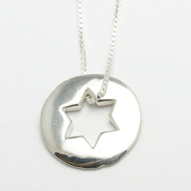Sterling Silver Open Star of David Necklace - ModernTribe