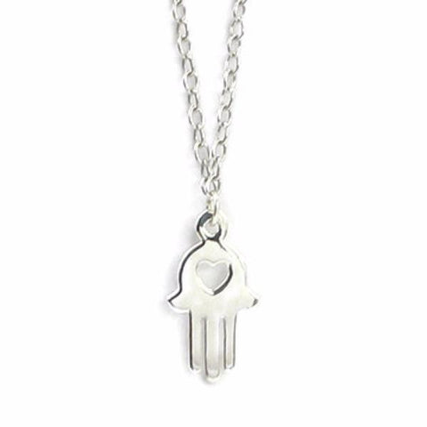 Hamsa Hand With Heart Necklace by Deidreamers - ModernTribe - 1