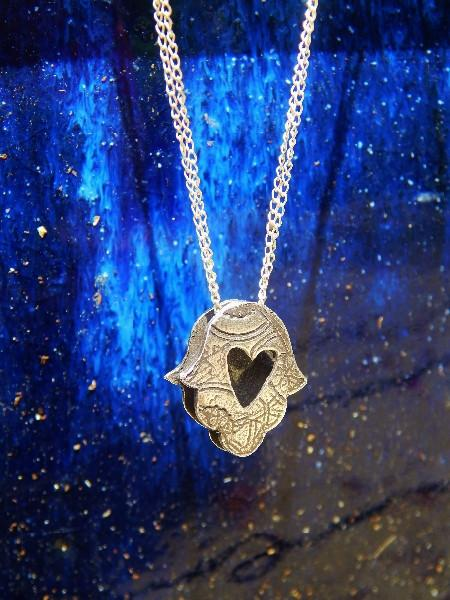 Hamsa Heart Necklace by Rachel Miller - ModernTribe