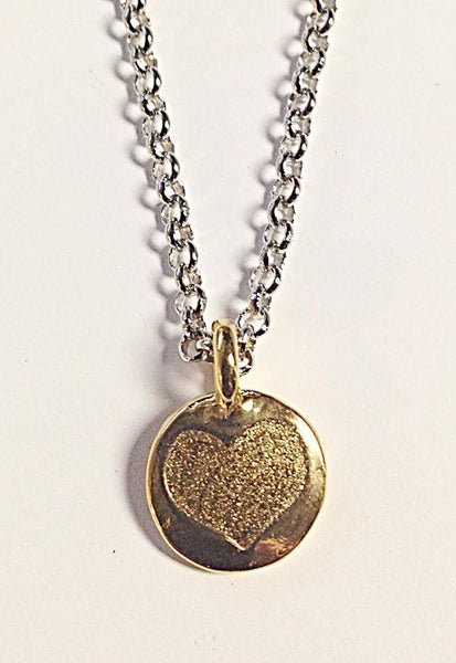 Whitney Howard Designs Necklaces Silver Heart of Gold Pendant Necklace by Whitney Howard Designs
