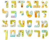 Personalized Hebrew Letters Wall Art by Sharon Goldstein Happy Judaica - ModernTribe - 1