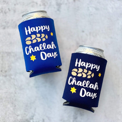 Happy Challah Days Koozies - Set of 2