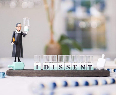 "The Glamorous Elephant Menorahs Oil Menorah / Not Personalized RBG ""I Dissent"" Ruth Bader Ginsburg Menorah - Standard or Oil"