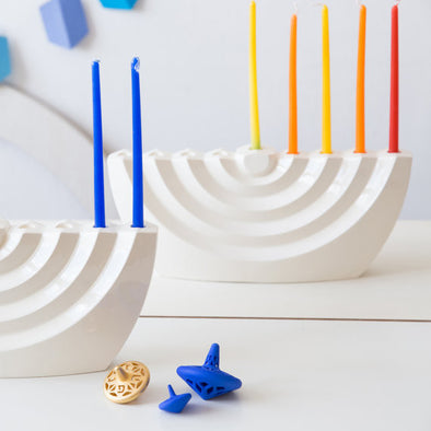 Ceramic Wavy Menorah