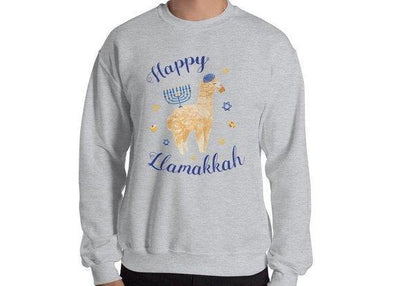 Happy Llamakkah Hanukkah Sweater - Unisex