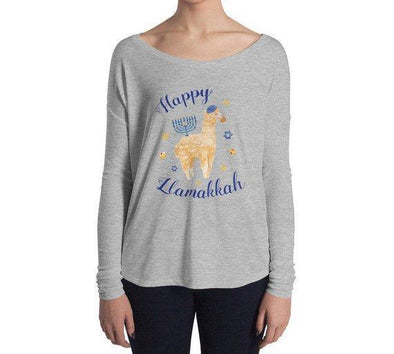 Happy Llamakkah Hanukkah Sweater-Shirt - Women's