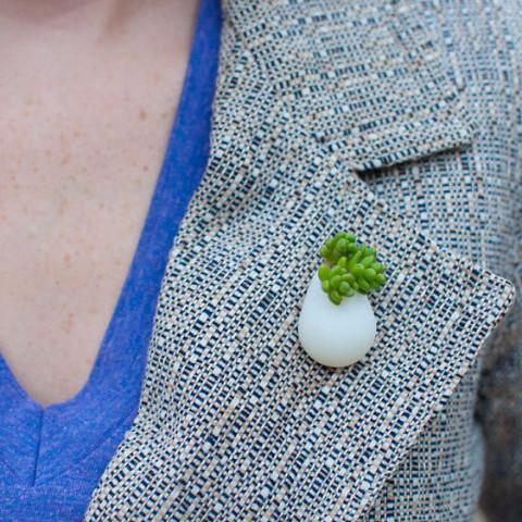 Wearable Planter Lapel Pin / Brooch by A Wearable Planter - ModernTribe - 1