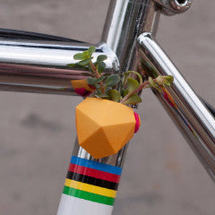 A Wearable Planter Bike Planter Geometric Bike Planter in Bright Yellow