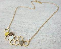 Honeycomb Necklace in Gold by Shlomit Ofir - ModernTribe