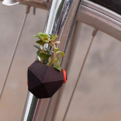 A Wearable Planter Bike Planter Geometric Bike Planter in Black: Wearable Planter