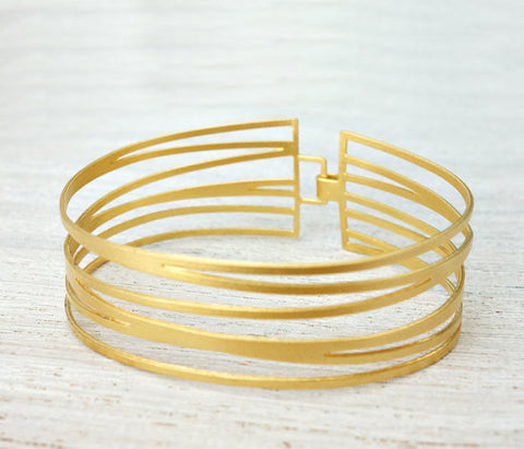 Gold Bracelet - Inspired by Ocean Water by Shlomit Ofir - ModernTribe