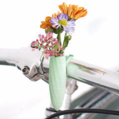 A Wearable Planter Bike Planter Mint Twisted Handlebar Vase: Planter For Your Bike