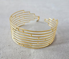 Art Deco Bracelet in Gold - Empire State Building by Shlomit Ofir - ModernTribe