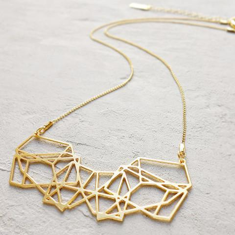 Shlomit Ofir Necklaces Gold Dimensions Necklace in Gold by Shlomit Ofir