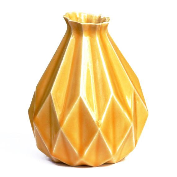 Studio Armadillo Vase Yellow Geometric Vase