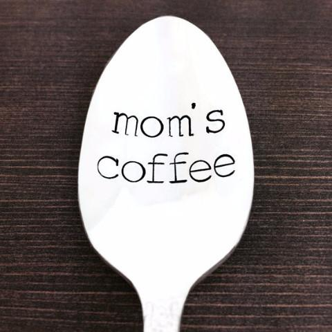 Mom's Coffee Spoon - Hand Stamped Vintage! by Block and Hammer - ModernTribe