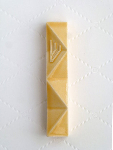 Studio Armadillo Mezuzah Origami Mezuzah in Yellow