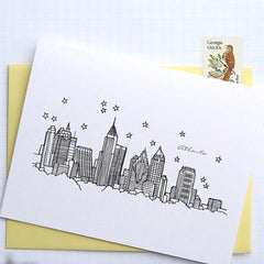 Atlanta City Skyline Card Set (8 cards) by Architette Studios - ModernTribe