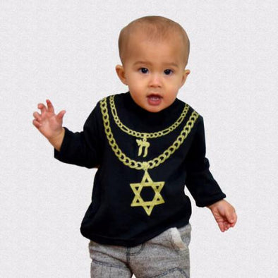 Jew Chainz Kids Long Sleeve Shirt