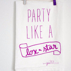 Party Like A Lox-Star Towel - Purple