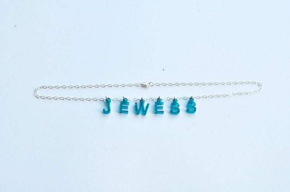 Jewess Acrylic Necklace - Blue or Pink - ModernTribe