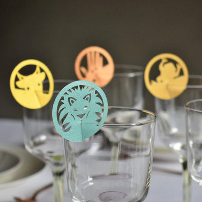 Passover 10 Plagues Wine Glass Decorations - Set of 10 - ModernTribe
