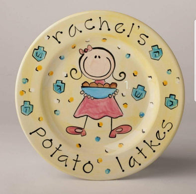 Personalized Potato Latkes Hanukkah Plate for Boy or Girl - ModernTribe