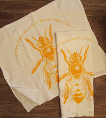 Eat Honey... Because It is Good... Re-Purposed Flour Sack Towel by Other - ModernTribe - 1