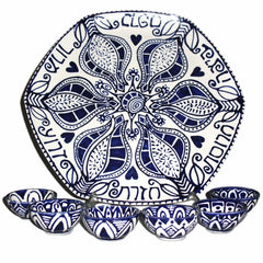 Blue & White Pomegranate Seder Plate - New for 2014! by Julie Stein - ModernTribe - 1