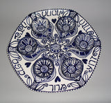 Blue & White Pomegranate Seder Plate - New for 2014! by Julie Stein - ModernTribe - 3