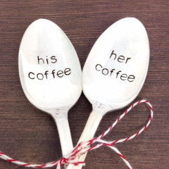 His Coffee, Her Coffee Spoons by Block and Hammer - ModernTribe