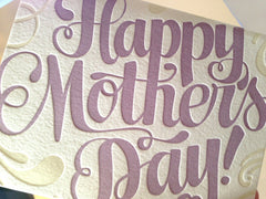 Happy Mother's Day Hand Lettered Card by Concrete Lace by Concrete Lace - ModernTribe - 1