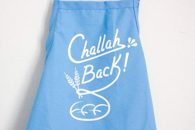 What Jew Wanna Eat Aprons Challah Back Apron - Light Blue