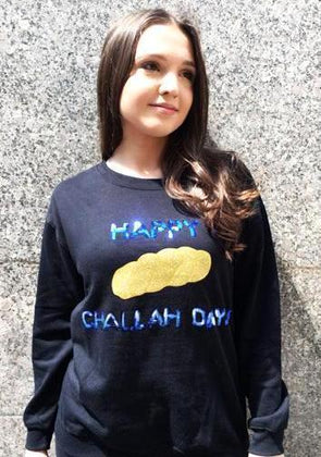 "Sequin ""Happy Challah Days"" Pullover Sweatshirt"