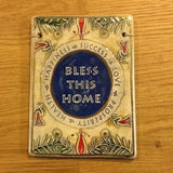 Bless This Home In English Plaque - Original Clay Art by Amir - ModernTribe - 2