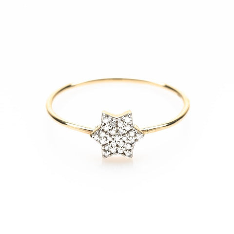 Star of David Diamond Ring