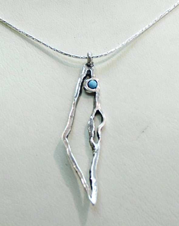 Israel Map Necklace - Gold or Silver